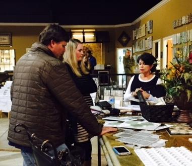 Designer Terri Jackson finalizing details for this couples custom home.