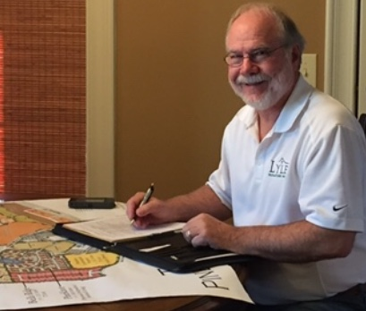 Wayne Lyles Owner, planning new locations for future Lyles Signature Homes properties.