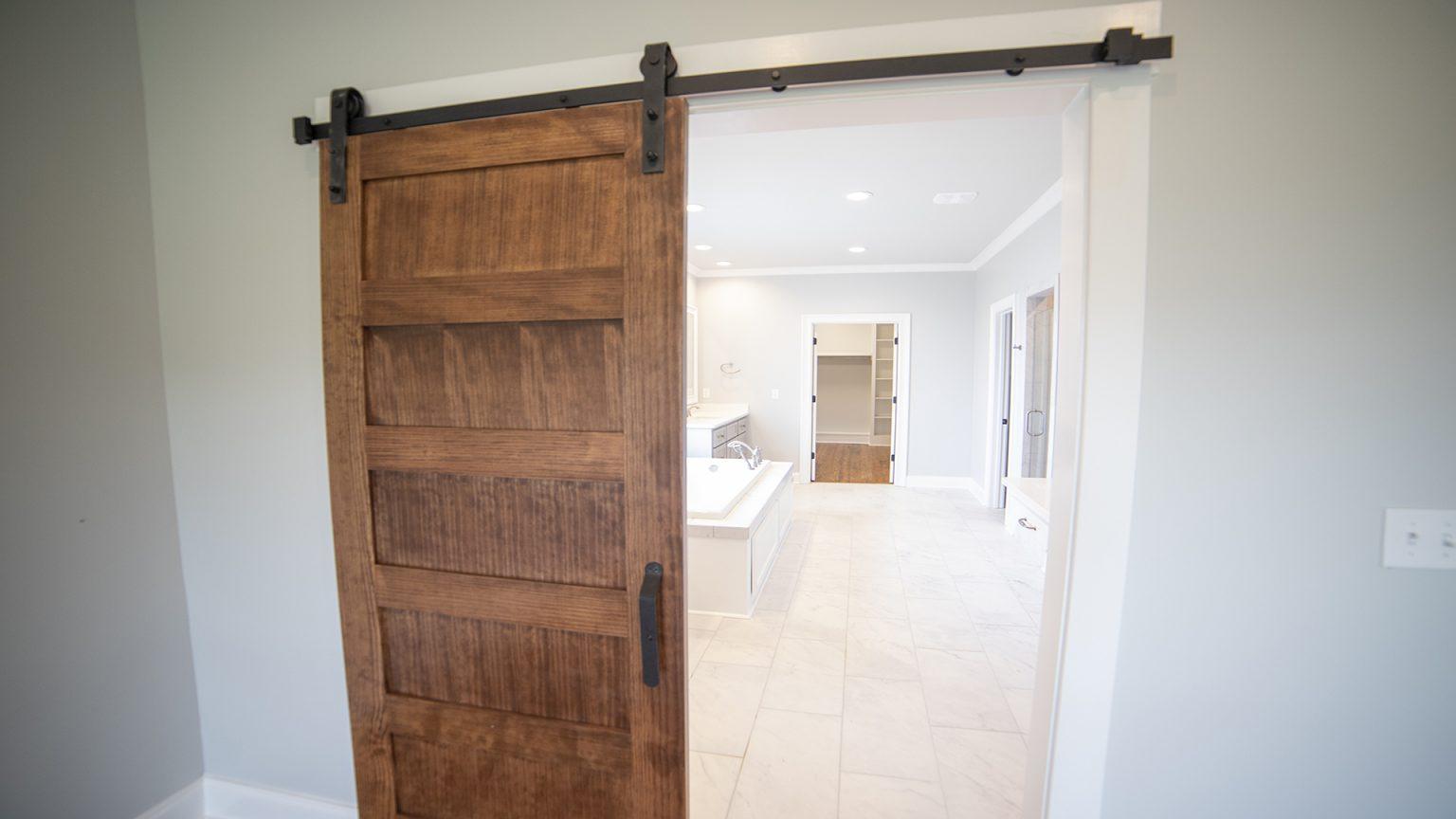 bathroom barn door rectangle floor tile brandon mississippi
