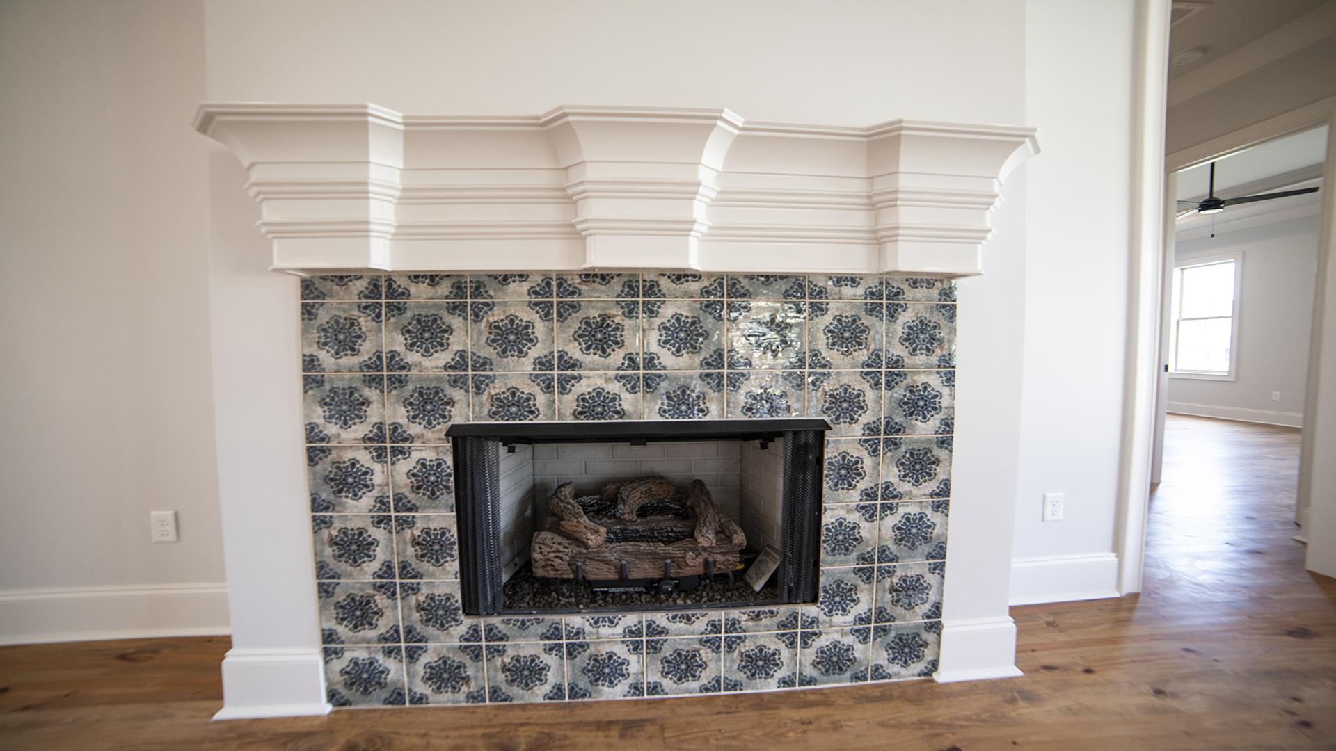 mosaic tile fireplace brandon mississippi