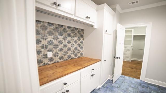 laundry room mosaic tile blue tile flooring master closet brandon mississippi