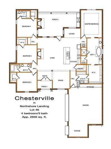 4 bedroom 3 bath 3 car garage home plan brandon mississippi