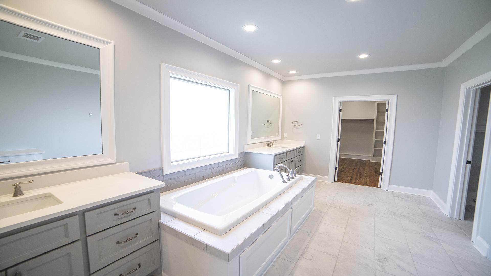 master bath dual vanities 8 inch fixtures walk-in closet hand sprayer drop in tub brandon mississippi