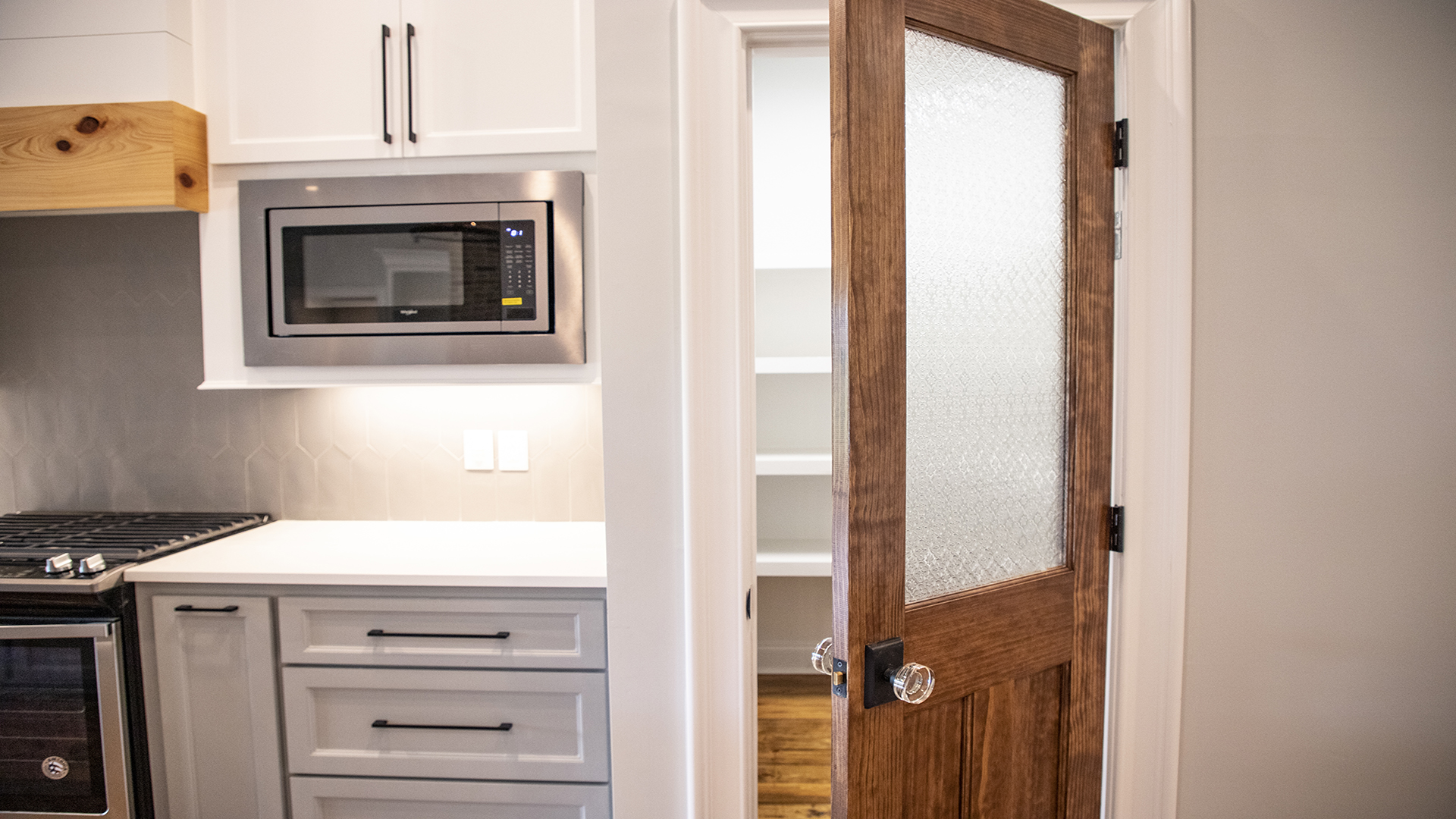 walk in pantry glass and wood door glass door knob built in microwave brandon mississippi