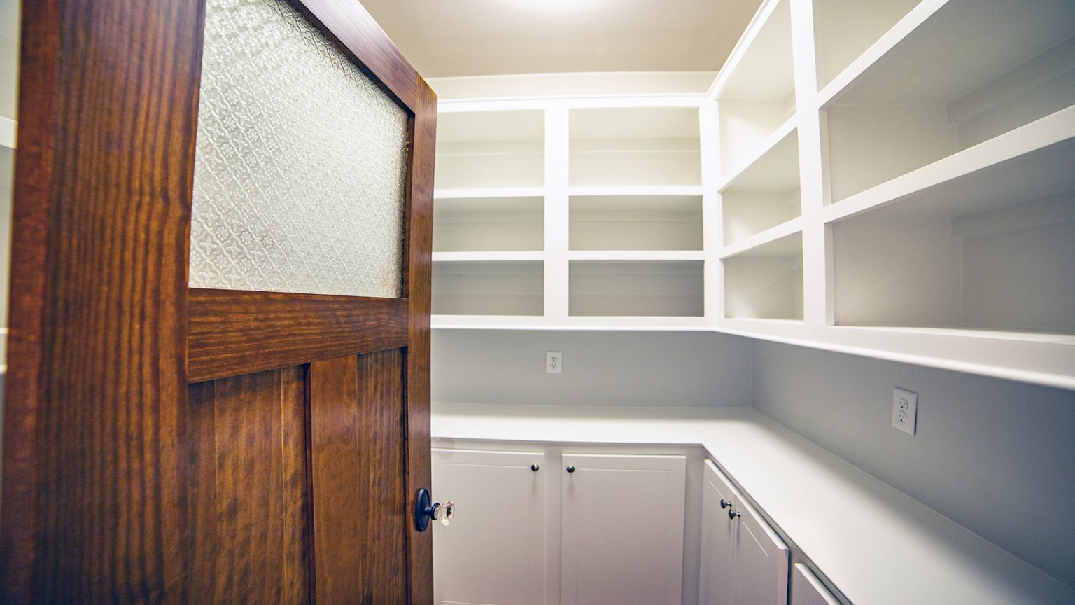 Pantry with glass door in Flowood Mississippi